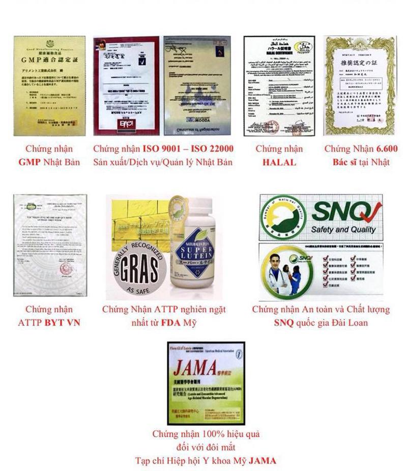 các giấy chứng nhận chất lượng trên toàn cầu về nước hydro izumio