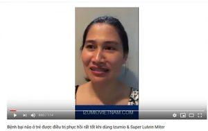 Mẹ của bé bị bệnh bại não chia sẻ kết quả điều trị khi dùng Izumio & Super Lutein Mitor+ 5