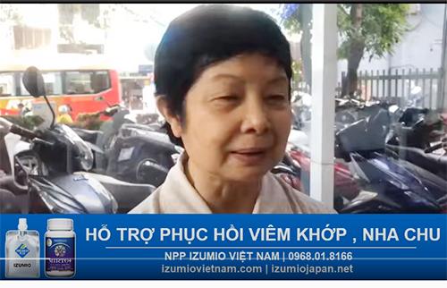 Nước Hydro Izumio và Super Lutein hỗ trợ hiệu quả viêm khớp , nha chu cho cô khách ở Hồ Chí Minh 8