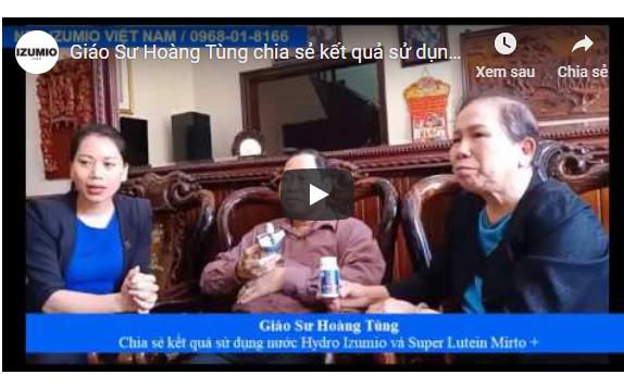 Giáo Sư Hoàng Tùng chia sẻ kết quả sử dụng nước Izumio và Super Lutein Mirto+ với bệnh lý của mình 5
