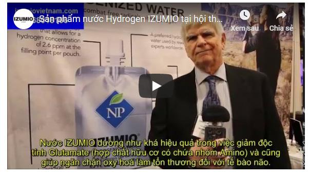 Sản phẩm nước Hydrogen IZUMIO tại hội thảo Y học quốc tế tại Mỹ 8