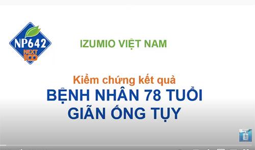Nước IZUMIO Super lutein hiệu quả với bệnh nhân 78 tuổi giãn ống tụy 7